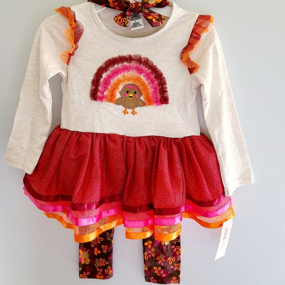 New Thanksgiving Girl Outfit Set